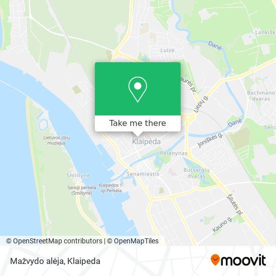 Mažvydo alėja map