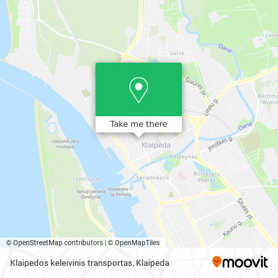 Klaipedos keleivinis transportas map