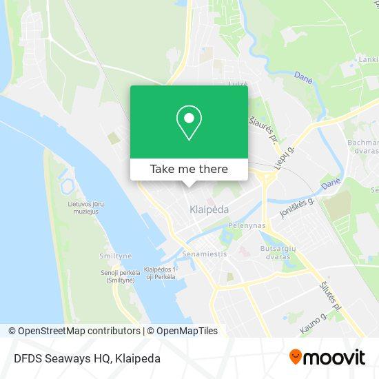 DFDS Seaways HQ map