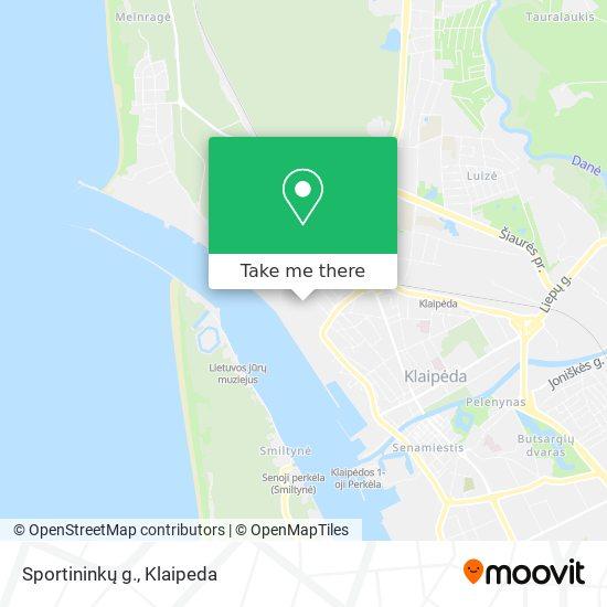Sportininkų g. map
