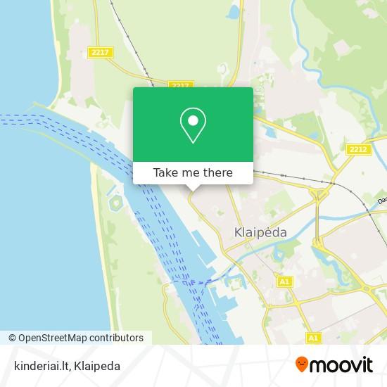 kinderiai.lt map