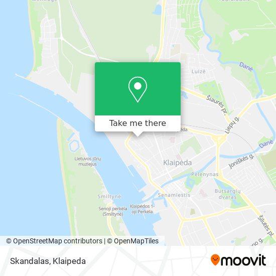 Skandalas map