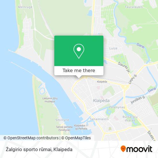 Žalgirio sporto rūmai map