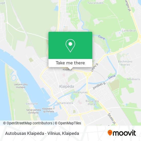 Autobusas Klaipėda - Vilnius map