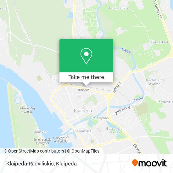 Klaipėda-Radviliškis map