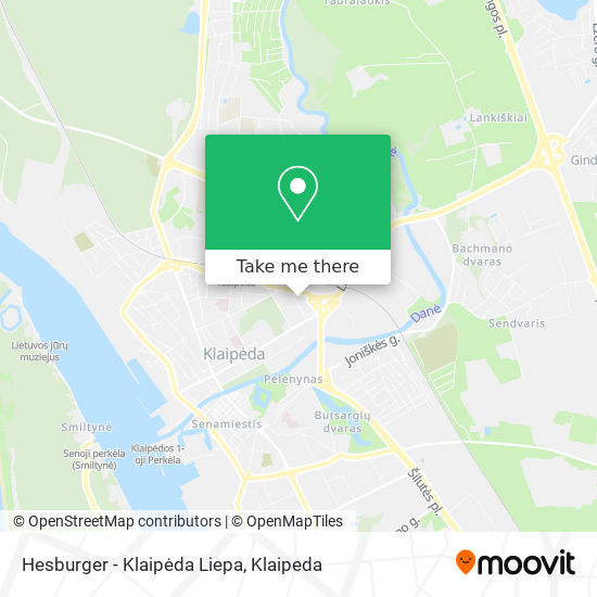 Hesburger - Klaipėda Liepa map