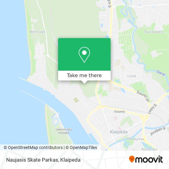Naujasis Skate Parkas map