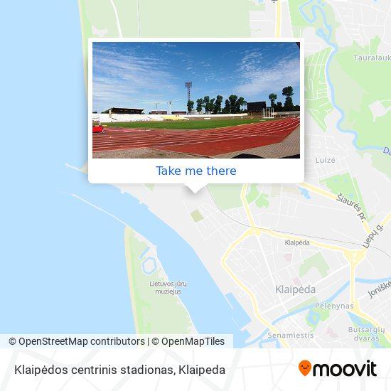 Klaipėdos centrinis stadionas map