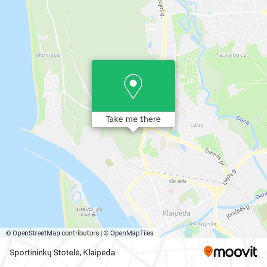 Sportininkų Stotelė map