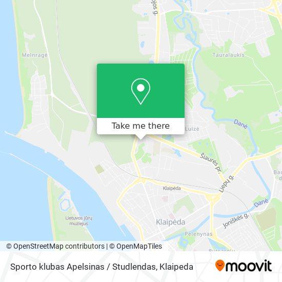 Sporto klubas Apelsinas / Studlendas map