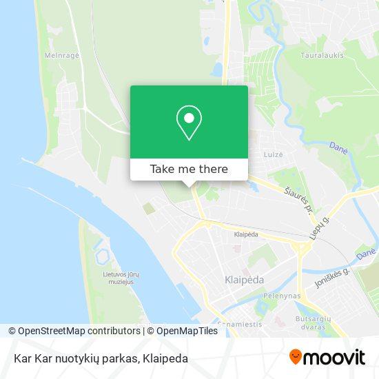 Kar Kar nuotykių parkas map