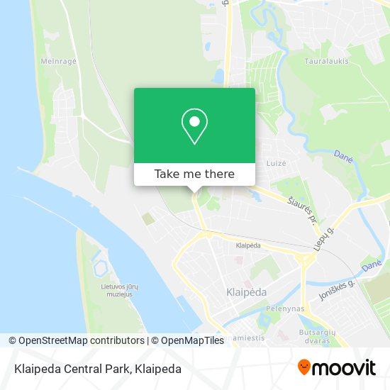 Klaipeda Central Park map