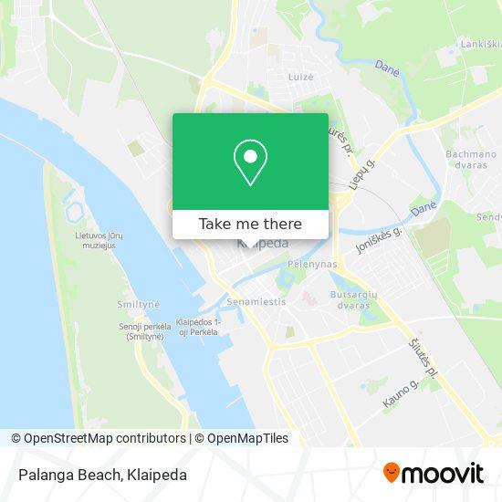 Palanga Beach map