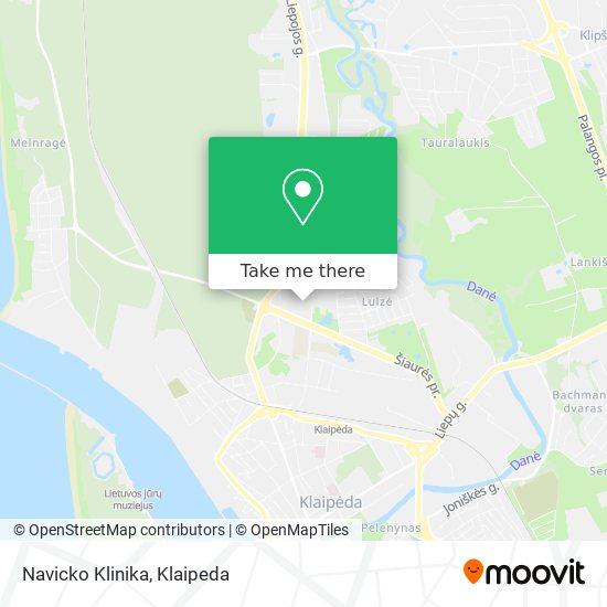 Navicko Klinika map