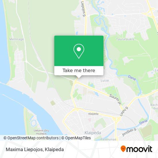 Maxima Liepojos map