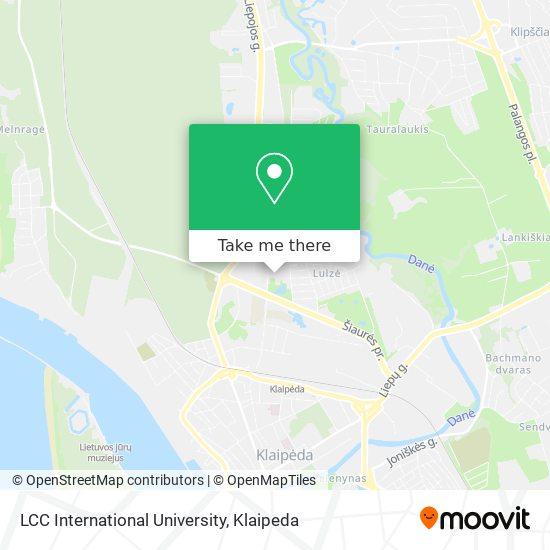 LCC International University map
