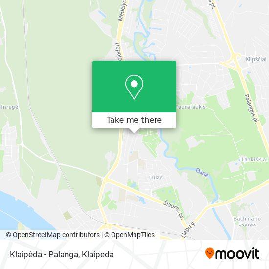 Klaipėda - Palanga map