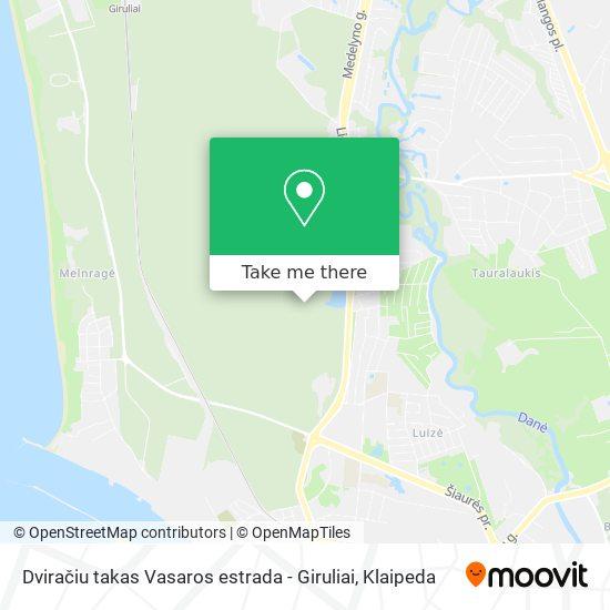 Dviračiu takas Vasaros estrada - Giruliai map