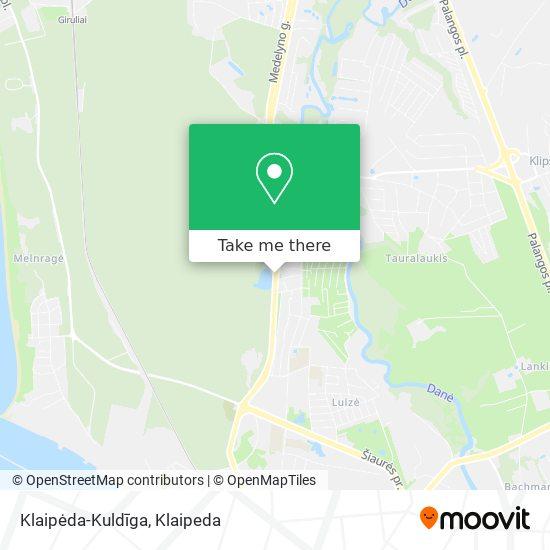 Klaipėda-Kuldīga map