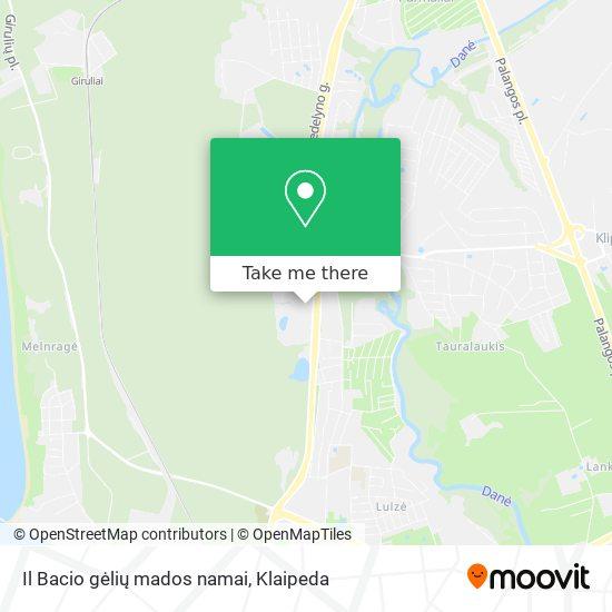 Il Bacio gėlių mados namai map