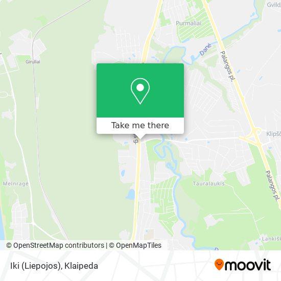 Iki (Liepojos) map