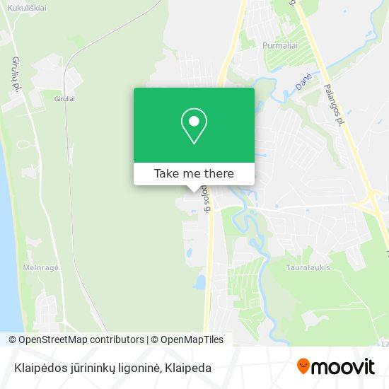 Klaipėdos jūrininkų ligoninė map