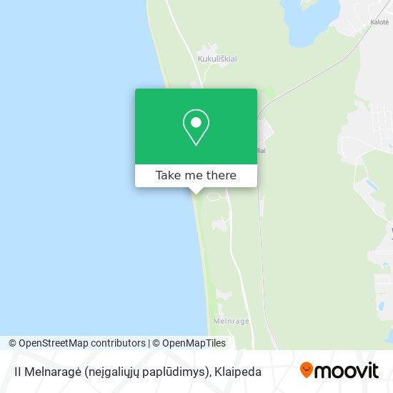 II Melnaragė (neįgaliųjų paplūdimys) map