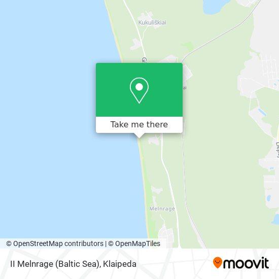 II Melnrage (Baltic Sea) map