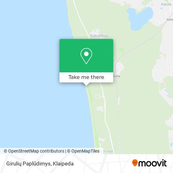 Girulių Paplūdimys map