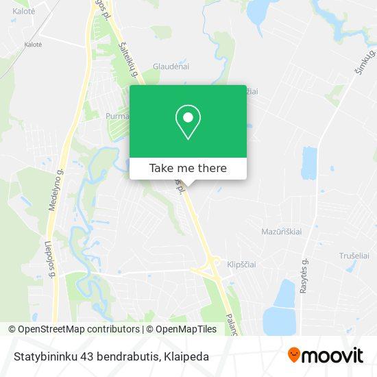 Statybininku 43 bendrabutis map