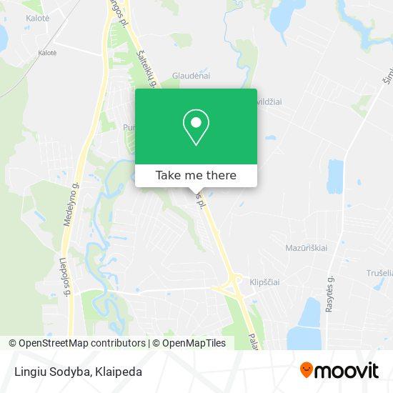 Lingiu Sodyba map