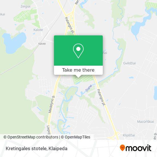 Kretingales stotele map