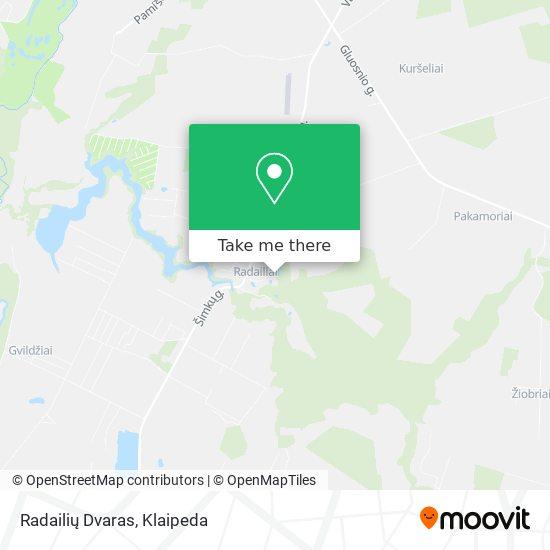 Radailių Dvaras map