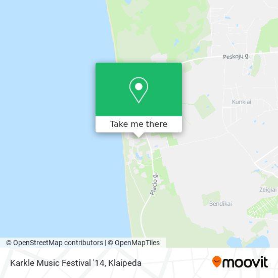Karkle Music Festival '14 map