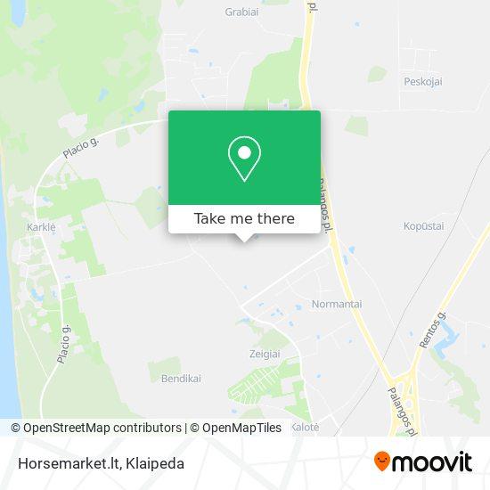 Horsemarket.lt map