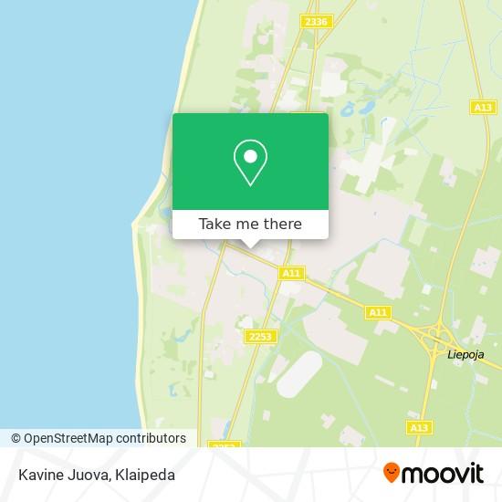 Kavine Juova map