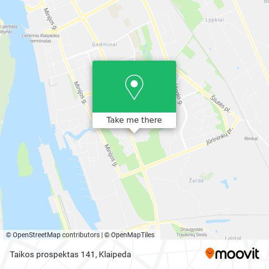 Taikos prospektas 141 map