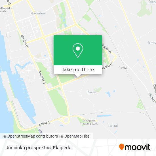 Jūrininkų prospektas map