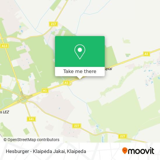 Hesburger - Klaipėda Jakai map
