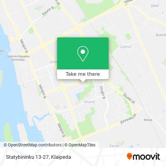 Statybininku 13-27 map