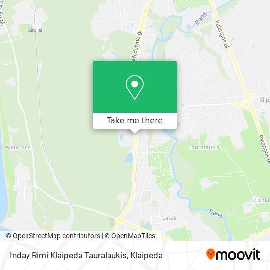 Inday Rimi Klaipeda Tauralaukis map