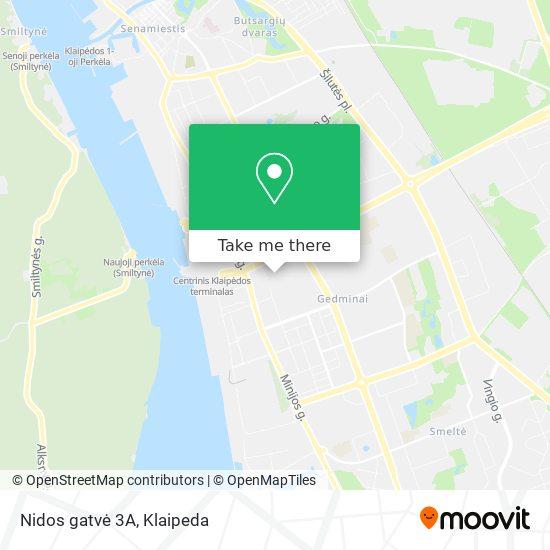 Nidos gatvė 3A map
