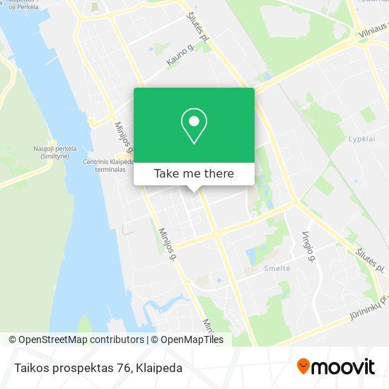 Taikos prospektas 76 map