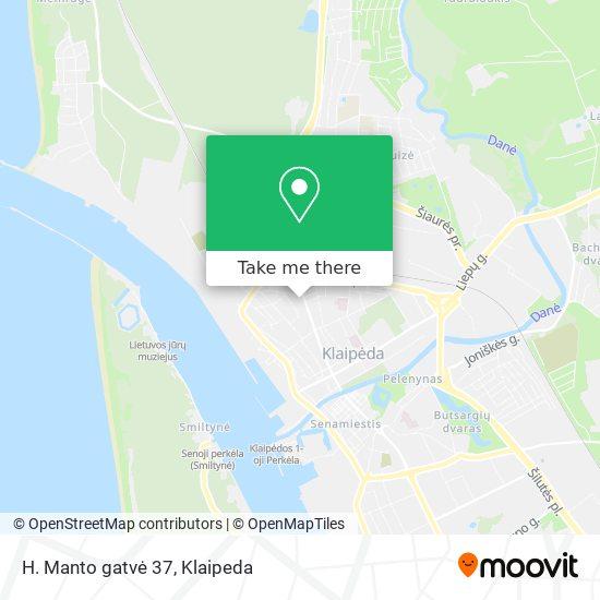 H. Manto gatvė 37 map