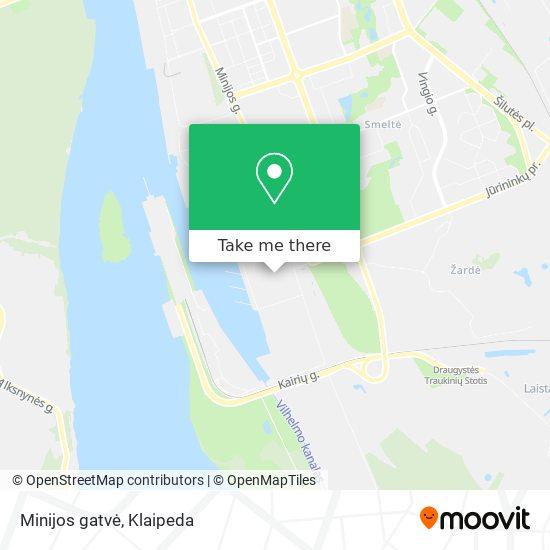 Minijos gatvė map