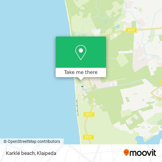 Karklé beach map