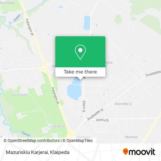 Mazuriskiu Karjerai map