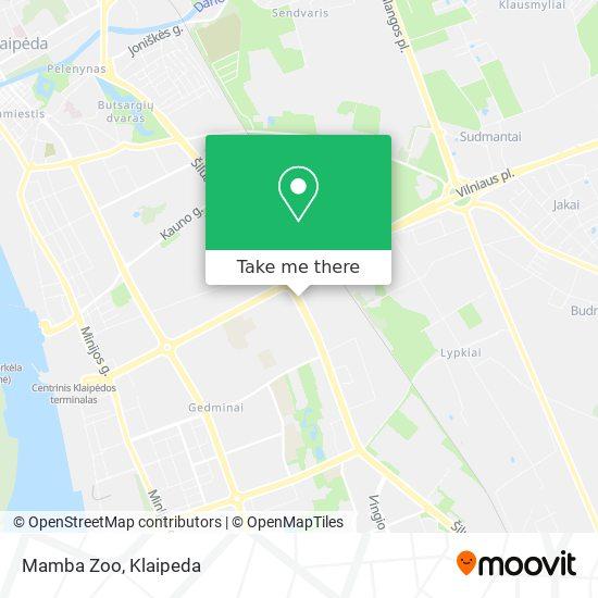 Mamba Zoo map