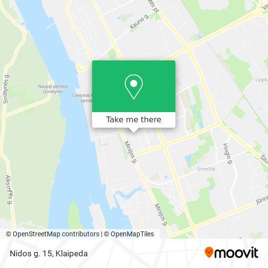 Nidos g. 15 map