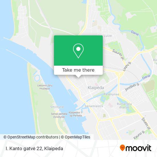 I. Kanto gatvė 22 map